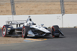 September 14, 2018 - Sonoma, CA, U.S. - SONOMA, CA - SEPTEMBER 14: Simon Pagenaud hits the apex hard during the Verizon IndyCar Series practice for the Grand Prix of Sonoma on September 14, 2018, at Sonoma Raceway in Sonoma, CA. (Photo by Larry Placido/Icon Sportswire) (Credit Image: © Larry Placido/Icon SMI via ZUMA Press)