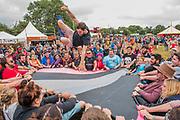 Play ninjas entertain - The 2017 Glastonbury Festival, Worthy Farm. Glastonbury, 24 June 2017