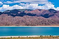 Kirghizistan, Province de Naryn, environs de Kotchkor, lac Orto Tokoy // Kyrgyzstan, Naryn province, Kotchkor, Orto Tokoy lake