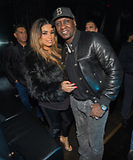 EXCLUSIVE<br /> Floyd Mayweather on his UK tour, Emile Heskey with his wife Chantelle inside Playground nightclub in Liverpool.  <br /> ©Peter Powell/Exclusivepix Media