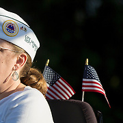 August 16, 2014, New Haven, CT:<br /> A guest attends Military Night on day four of the 2014 Connecticut Open at the Yale University Tennis Center in New Haven, Connecticut Monday, August 18, 2014.<br /> (Photo by Billie Weiss/Connecticut Open)