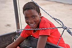 Orange Vendor Smiling