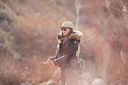 Chelsea Baum (@CherokeeFlyGirl).  Truckee River.  Nevada.