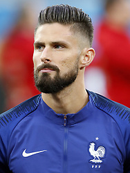 Olivier Giroud of France during the 2018 FIFA World Cup Semi Final match between France and Belgium at the Saint Petersburg Stadium on June 26, 2018 in Saint Petersburg, Russia