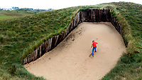 SANDWICH (GB) - Bunker op hole 4.  The Royal St. George's Golf Club (1887), één van de oudste en meest beroemde golfclubs in Engeland. COPYRIGHT KOEN SUYK