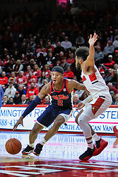 NORMAL, IL - December 08: Devontae Shuler defended by Keyshawn Evans during a college basketball game between the ISU Redbirds and the University of Mississippi (Ole Miss) Rebels on December 08 2018 at Redbird Arena in Normal, IL. (Photo by Alan Look)