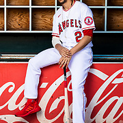 TEMPE, AZ - FEBRUARY 18: Los Angeles Angels shortstop Andrelton Simmons (2) poses for a portrait during Angels Photo Day on Tuesday, Feb, 18 at Tempe Diablo Stadium in Tempe, Ariz. (Photo by Ric Tapia/Icon Sportswire)