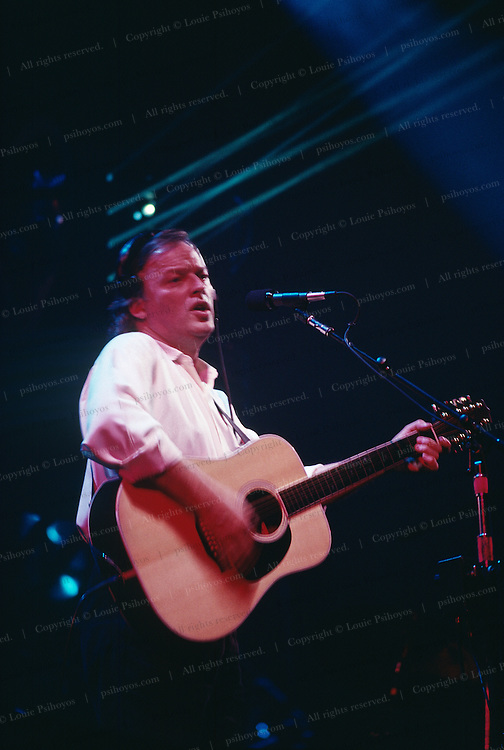 David Gilmour at Capitol Centre in Landover, MD 1987.<br /> The Rock Group Pink Floyd during the Momentary Lapse of Reason Tour, their first tour without Roger Waters.