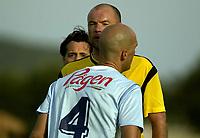 Fotball - La Manga Cup - 07.03.2003<br /> Lillestrøm v Malmø<br /> Uwe Rösler og Daniel Majstorovic får rødt kort<br /> Foto: Chris Kyllingmark, Digitalsport