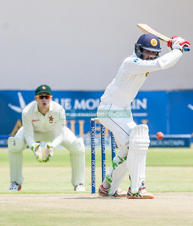 Sri Lanka batsman Upul Tharanga in action during the second day of the 100th test match for Zimbabwe played in a match with Sri Lanka at Harare Sports Club 30 October 2016.
