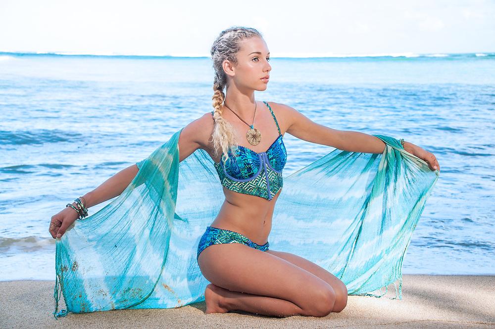 Zoe Curtis wearing Maaji Swimwear & Tiare Hawaii.  Styled by Therese wahl