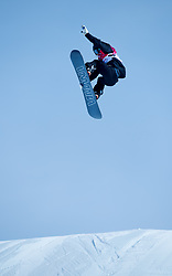 February 19, 2018 - Pyeongchang, South Korea - ENNI RUKAJARVI of Finland soars during Women's Snowboard Big Air  qualifications Monday, February 19, 2018 at the Alpensia Ski Jumping Centre at the Pyeongchang Winter Olympic Games. Rukajarvi failed o qualify fo the finals. The sport is making it's first appearance as an Olympic sport. Photo by Mark Reis, ZUMA Press/The Gazette (Credit Image: © Mark Reis via ZUMA Wire)
