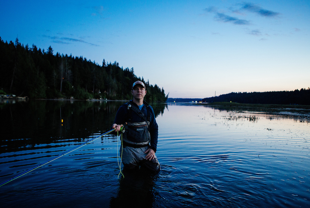 Fly Fishing for sea run cutthroat trout in Puget Sound
