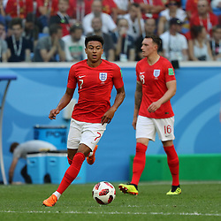 July 14, 2018 - St. Petersburg, Russia - July 14, 2018, St. Petersburg, FIFA World Cup 2018, Football match for the third place in the World Cup. Football match of Belgium - England at the stadium of St. Petersburg. Player of the national team Jesse Lingard. (Credit Image: © Russian Look via ZUMA Wire)