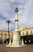 Monument memorial in Plaza Vieja, Plaza de la Constitucion, City of Almeria, Spain