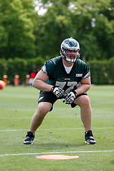 Philadelphia Eagles offensive tackle Baker Steinkuhler #72 during the NFL football rookie camp at the teams practice facility on Saturday, May 17, 2014. (Photo by Brian Garfinkel)
