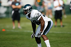 Philadelphia Eagles linebacker Akeem Jordan #56 during the Philadelphia Eagles NFL training camp in Bethlehem, Pennsylvania at Lehigh University on Saturday August 8th 2009. (Photo by Brian Garfinkel)