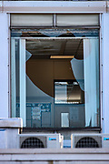 Birmingham, United Kingdom, June 14, 2021: Windows of an admin office facility owned by Arconic in Birmingham appears to be smashed broken after Palestine Action activist used a sledgehammer to protest against the company who they say 'provided cladding for Grenfell Tower' and 'materials for Israel's fighter jets.' (Photo by Vudi Xhymshiti)