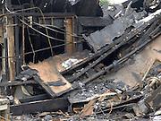 burnt down house