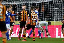 Hull City's Jarrod Bowen celebrates his 2nd goal from the spot