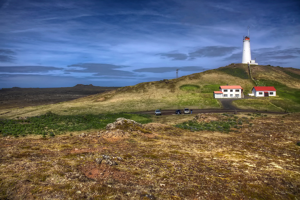Reykjanesviti is Iceland's oldest lighthouse. It is situated on the southwestern edge of the Reykjanes peninsula and serves as a landfall light for Reykjavík and Keflavík.