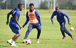 Cape Town-180823- Cape Town City player Ayanda Patosi and Thabo Nodada  at training preparing for their up comingMTN 8 semi-final against Sundowns at Cape Town Stadum.Photographer :Phando Jikelo/African News Agency/ANA