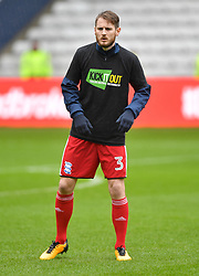 Birmingham City's Jonathan Grounds warms up ahead of the match