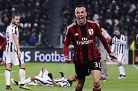 esultanza gol Luca Antonelli Goal celebration <br /> Torino 07-02-2015, Juventus Stadium, Football Calcio 2014/2015 Serie A, Juventus - Milan, Foto Image Sport/Insidefoto