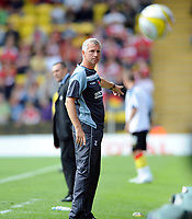 Watford v Charlton Athletic Championship 16.08.08 <br /> Photo: Tim Parker Fotosports International<br /> Adrian Boothroyd manager Watford & Alan Pardew manager Charlton Athletic during the game