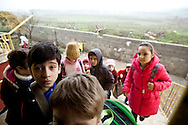 Children arrive at 9am to begin classes at the Albashayer School for Syrian refugee children, Antakya, Turkey. 14/12/2012. Bradley Secker for The Washintgon Post