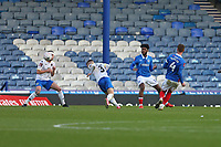 Football - 2020 / 2021 Emirates FA Cup - Round 2 - Portsmouth vs. Kings Lynn Town - Fratton Park<br /> <br /> Portsmouth's Tom Naylor strikes to make it two nil at Fratton Park <br /> <br /> COLORSPORT/SHAUN BOGGUST