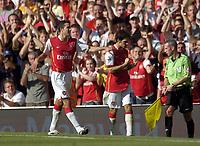 Photo: Olly Greenwood.<br />Arsenal v Manchester City. The FA Barclays Premiership. 25/08/2007. Arsenal's Cesc Fabregas celebrates scoring