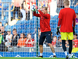 BLACKBURN, ENGLAND - Thursday, July 19, 2018: Liverpool's goalkeeper Loris Karius during the pre-match warm-up before a preseason friendly match between Blackburn Rovers FC and Liverpool FC at Ewood Park. (Pic by Paul Greenwood/Propaganda)