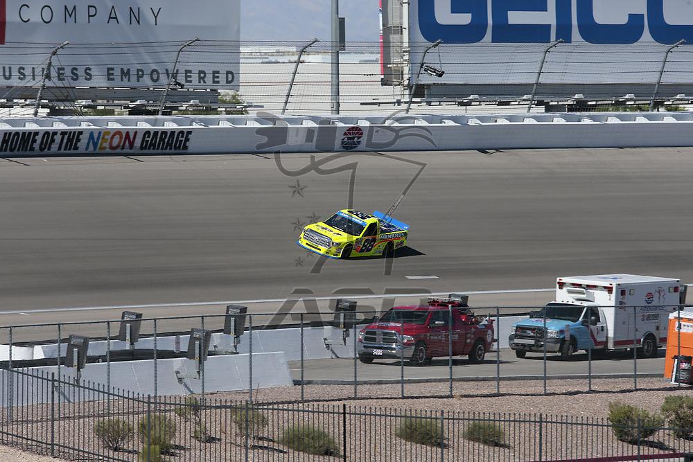September 30, 2017 - Las Vegas, Nevada, USA: The NASCAR Camping World Truck Series teams take to the track for the Las Vegas 350 at Las Vegas Motor Speedway in Las Vegas, Nevada.