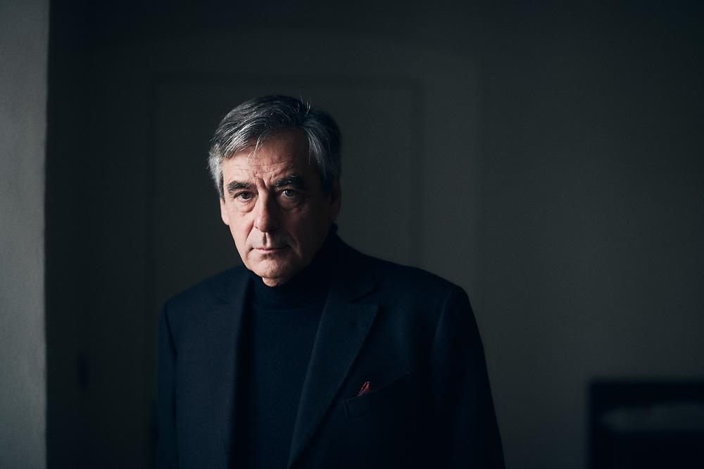 Francois Fillon, a son domicile. Solesmes, France. 19 octobre 2020.