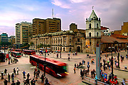 Colombia, Bogota, 16th century Iglesia de San Francisco, Bogota's Oldest Restored Church, Intersections of Avendia Jimenez and Carrera Septima, Gold Museum Stop For The Transmilenio Buses