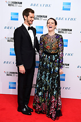 Andrew Garfield and Claire Foy arriving for the Opening Night Gala screening of Breathe held at Odeon Leicester Square, London.