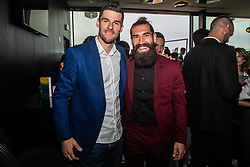Rok Kronaveter and Luka Majcen during SPINS XI Nogometna Gala 2019 event when presented best football players of Prva liga Telekom Slovenije in season 2018/19, on May 19, 2019 in Slovene National Theatre Opera and Ballet Ljubljana, Slovenia. Photo by Grega Valancic / Sportida.com