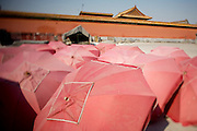 Gugong (Forbidden City, Imperial Palace). Fast Food restaurant. Umbrella storage.