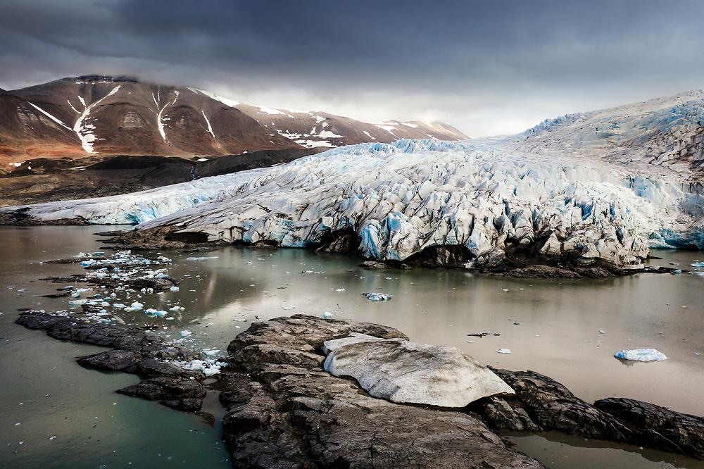 Nordenskiöldbreen (Nordenskiöld Glacier) at Spitsbergen