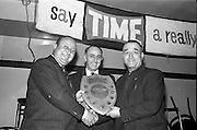30/7/1964<br /> 7/30/1964<br /> 30 July 1964<br /> <br /> Presentation of the Lime Shield Presented by Mr P. Butler Sales Rep from Smithwicks on the left to Mr. L. Sullivan Captian of the Nolan team who Won at the City of Dublin Workmans Club. Looking on is Mr. C.J. Mc Auley Hon. Sec. Dublin Clubs Dart League