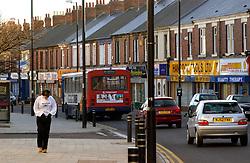 Traffic & bus Wallsend High Street; Tyneside; NE England