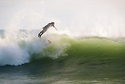 Surfing off Monahan's Dock, Narragansett, RI