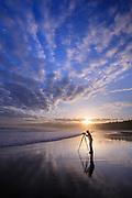 Photographer on Shi Shi Beach, Olympic National Park.