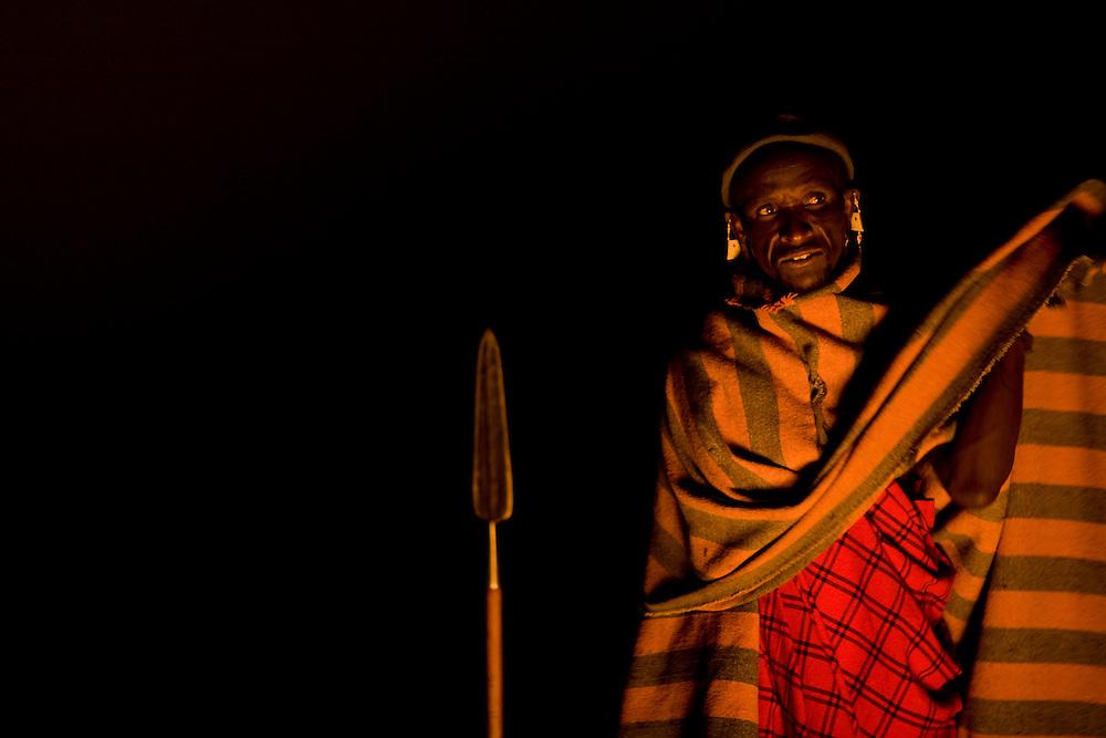 TANZANIA. Gols Mountains. August 10th 2009..A Maasai man