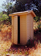 Outhouse at Forest Service Cabin near Tangle Creek, Tonto National Forest, Arizona.