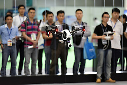 An unmanned aerial vehicle flies during the 4th China Information Technology Expo in Shenzhen, south China's Guangdong Province, April 8, 2016. The expo, with the participation of over 1,700 enterprises across the world, opened here Friday. EXPA Pictures © 2016, PhotoCredit: EXPA/ Photoshot/ Liang Xu<br /> <br /> *****ATTENTION - for AUT, SLO, CRO, SRB, BIH, MAZ, SUI only*****