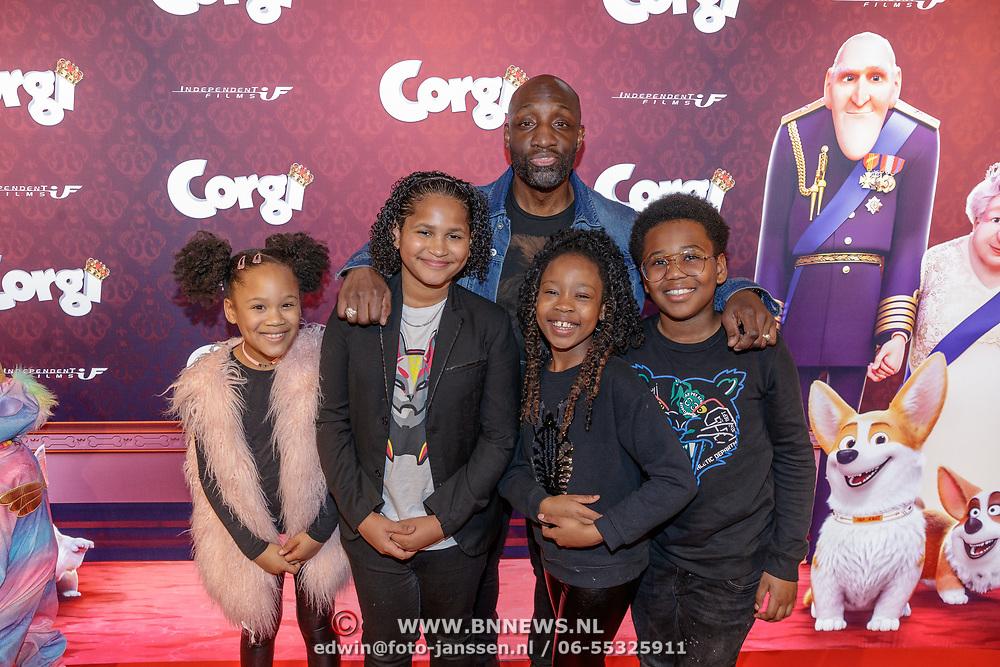 NLD/Amsterdam/20190210- première Corgi, Murth Mossel met gezin