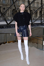 Sophie Turner attending the photocall held before the Louis Vuitton show during Paris Fashion Week Ready to wear FallWinter 2017-18 on March 07, 2017 at the Louvre museum in Paris, France. Photo by Aurore Marechal/ABACAPRESS.COM    585050_166 Paris France