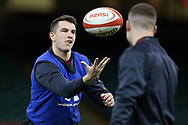 Elliot Dee of Wales during the Wales rugby team captains run at the Principality Stadium  in Cardiff , South Wales on Friday 2nd February 2018.  the team are preparing for their opening Natwest 6 Nations 2018 championship match against Scotland tomorrow.   pic by Andrew Orchard